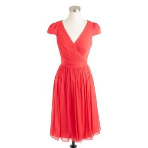 J Crew Mirabelle Dress 100% Silk Size 16